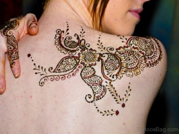 Sweet Henna On Back Shoulder