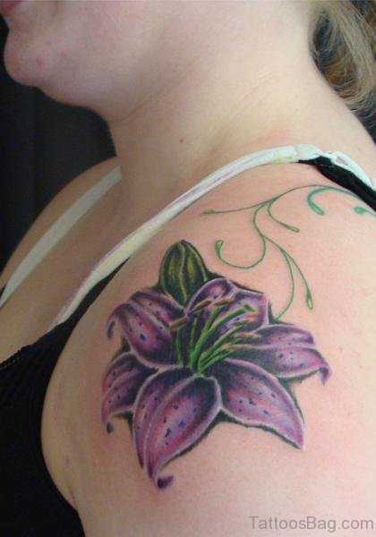 Sweet Lily Flower Tattoo