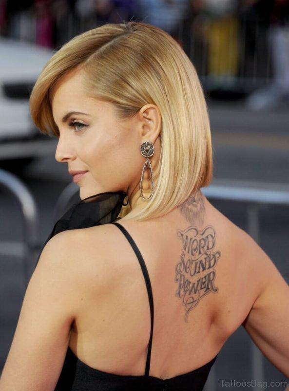 Sweet Lion Tattoo On Neck