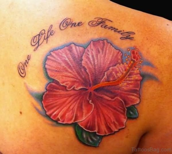 Sweet Red Hibiscus Tattoo