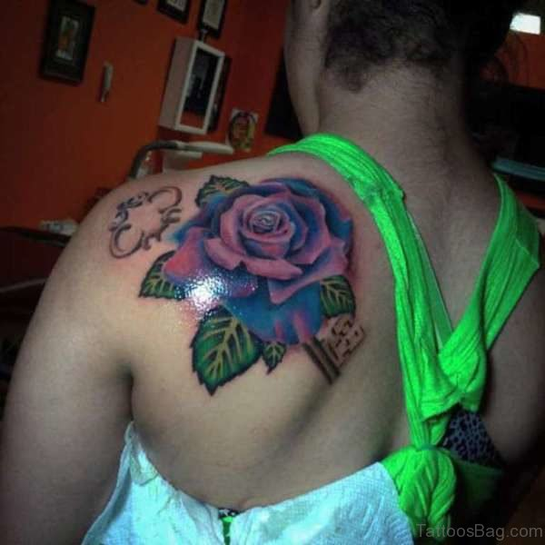 Sweet Rose Tattoo For Women