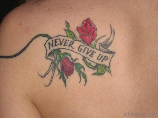 Sweet Simple Rose Shoulder Tattoo