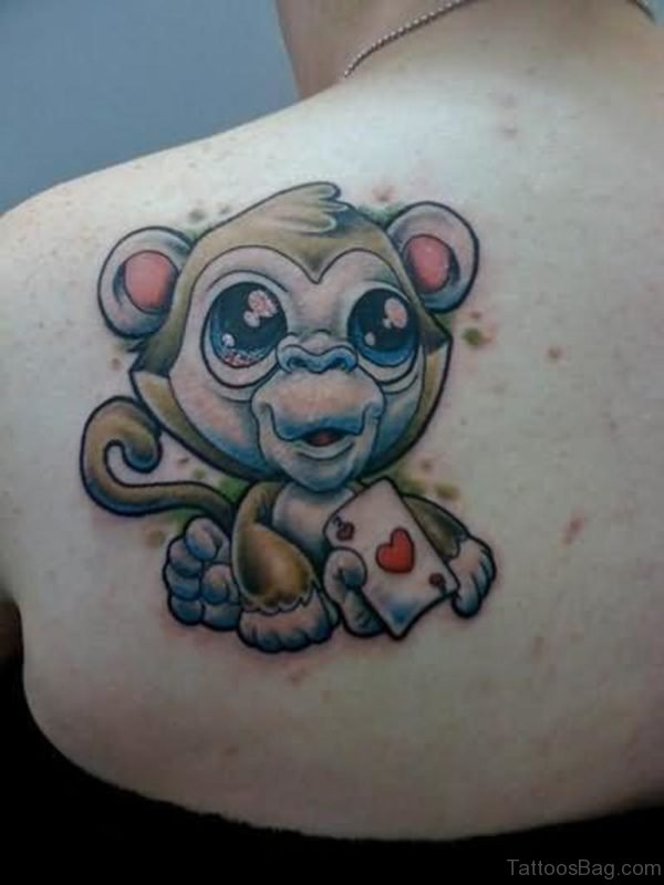 Sweet Small Monkey Tattoo