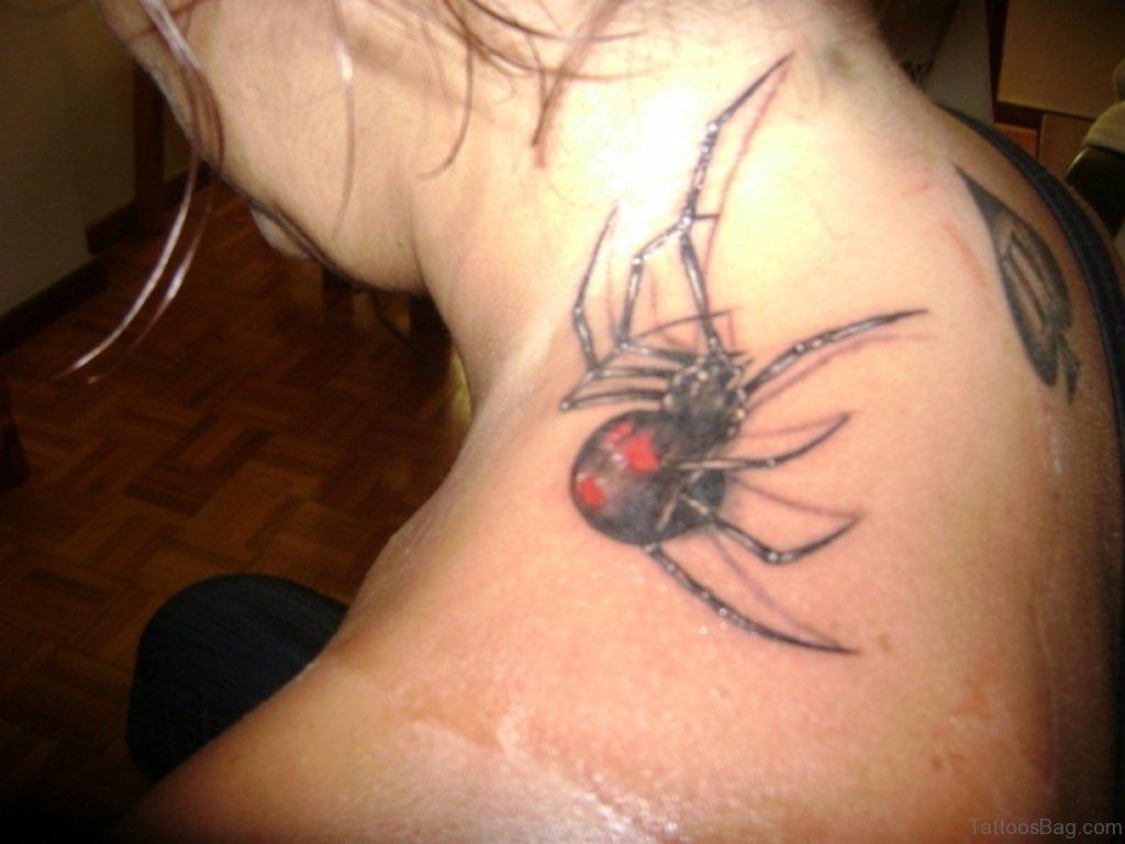 Spider web tattoo designs neck
