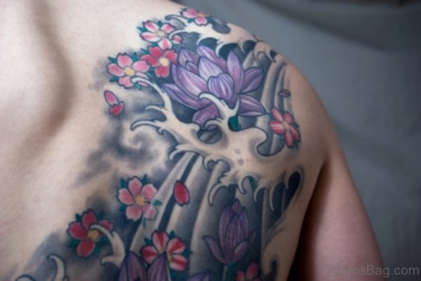 Sweet Stylish Hibiscus Flower Tattoo