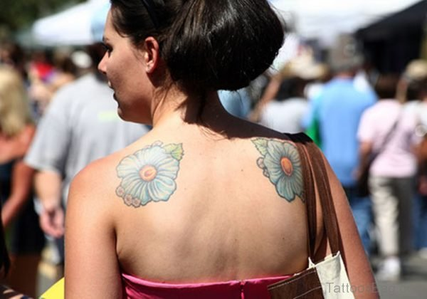 Sweet Two Sided Hibiscus Flower Tattoo