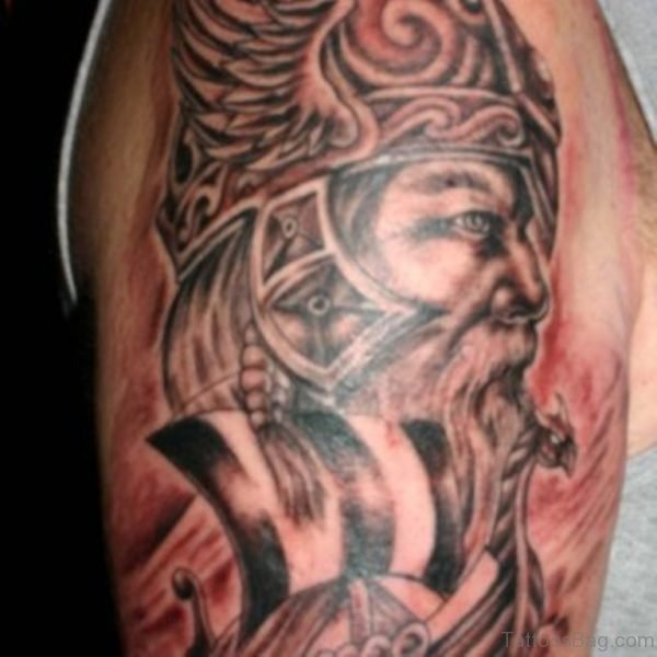 Sweet Viking Shoulder Tattoo