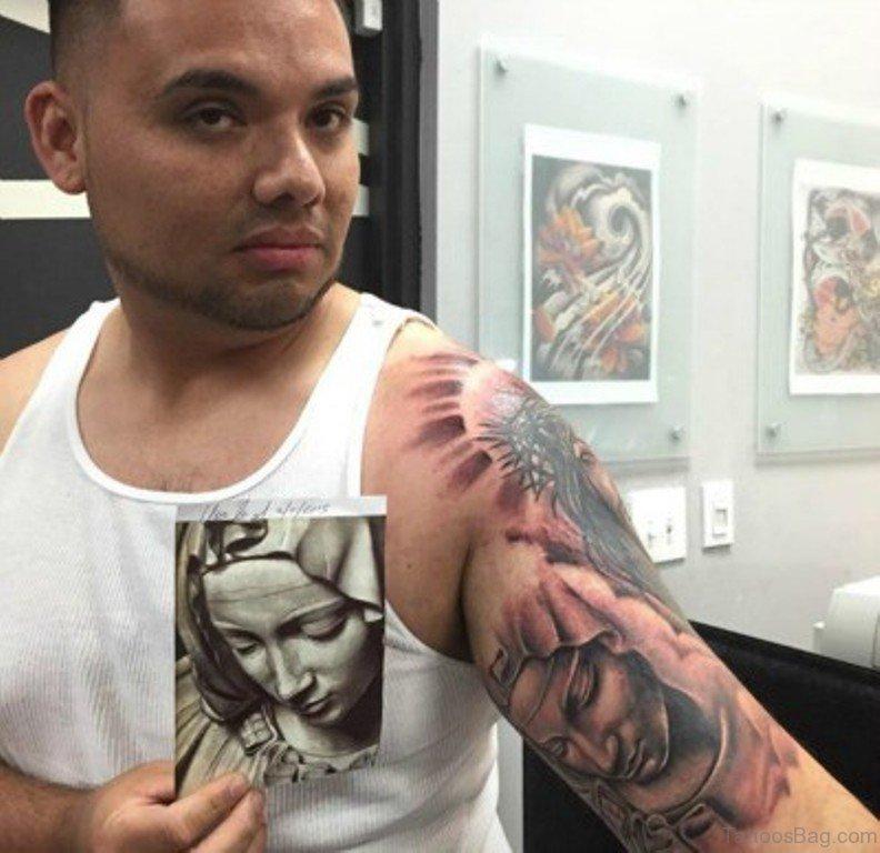 802bb34c7 25 Unique Virgin Mary Shoulder Tattoos