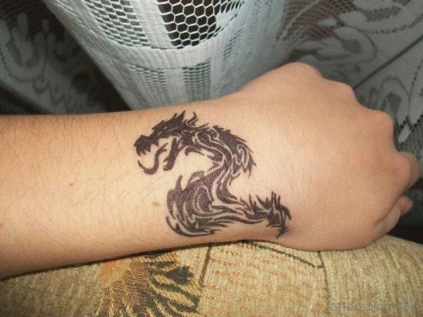 Sweet Dragon Tattoo On Wrist