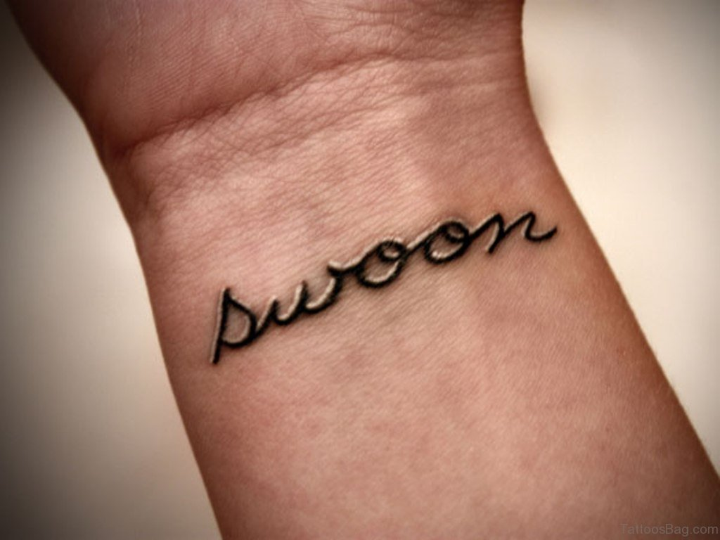 82 Fine Looking Letters Tattoos For Wrist