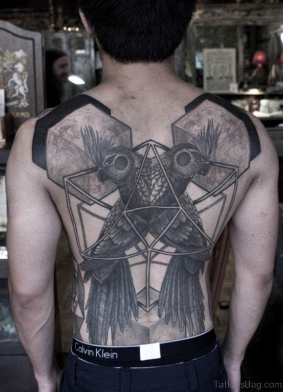 Symmetrical Back Tattoo