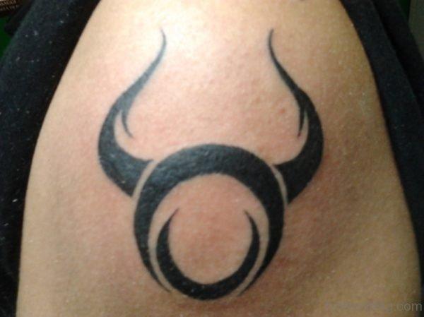 Taurus Zodiac Symbol Tattoo Design