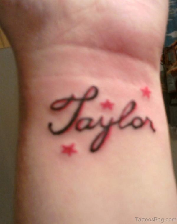 Taylor Name Tattoo