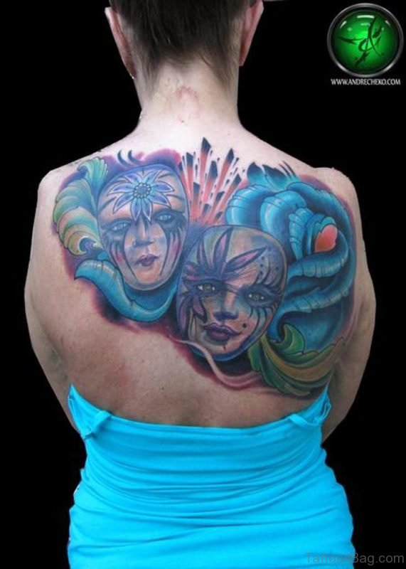 Theater Mask Tattoo