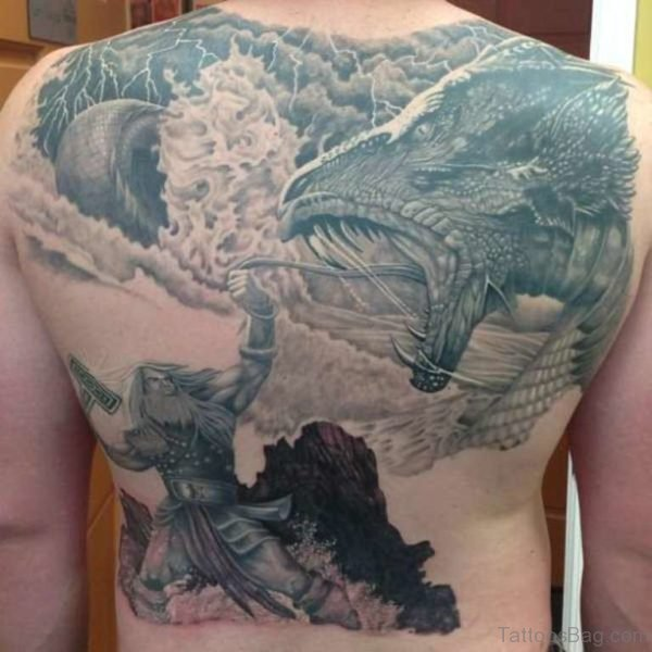 Thor Tattoo On Back
