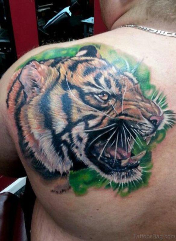 Tiger Face Tattoo Design