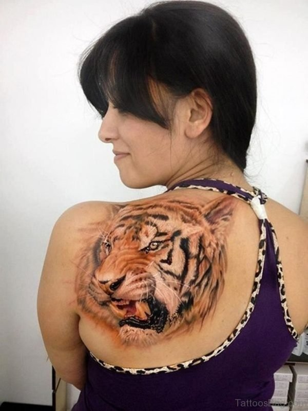Tiger Face Tattoo Design
