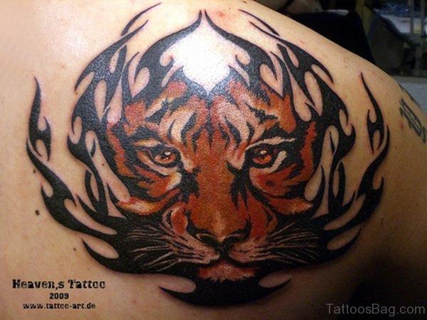 Tiger Face Tattoo