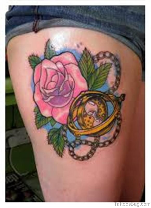 Time Turner With Rose Tattoo