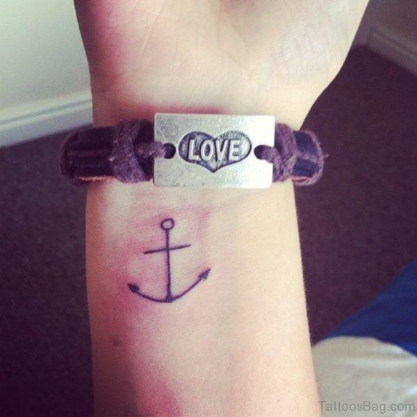 Tiny Anchor Tattoo