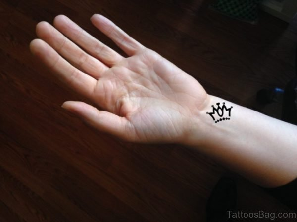 Tiny Crown Tattoo