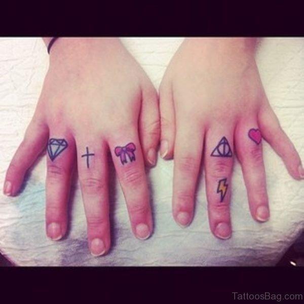 Tiny Diamond Tattoo