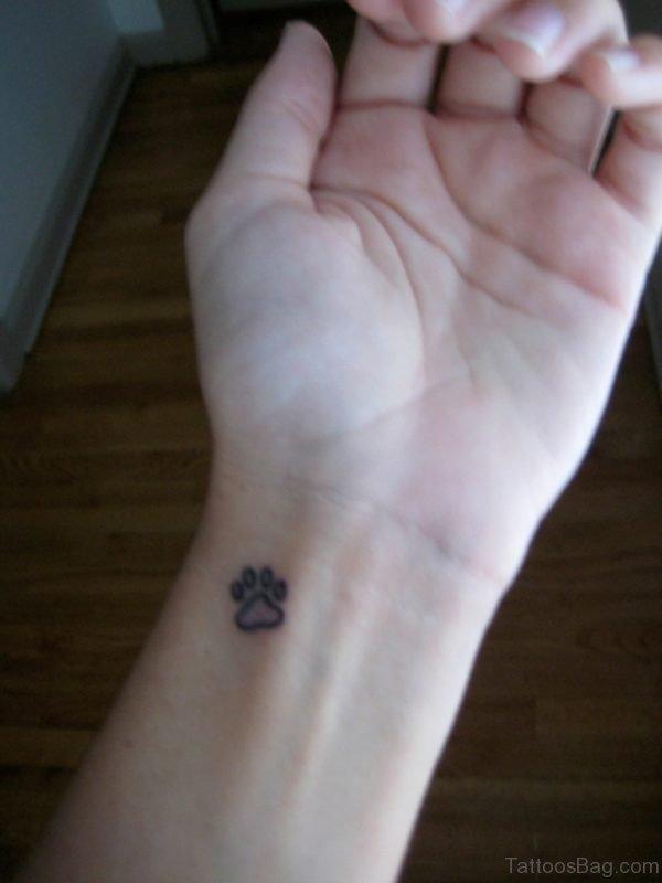 Tiny Paw Tattoo