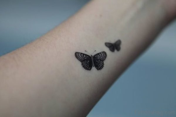 Tiny Two Butterfly Tattoo On Wrist