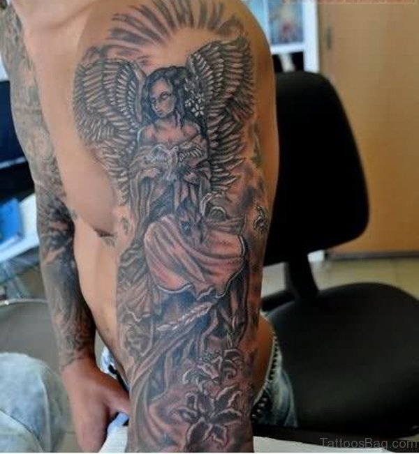 Tradition Angel Shoulder Tattoo