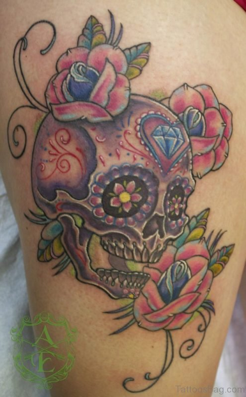 Traditional Japanese Skull Tattoo
