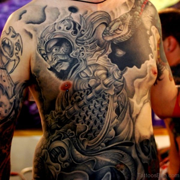 Traditional Japanese Tattoo On Back