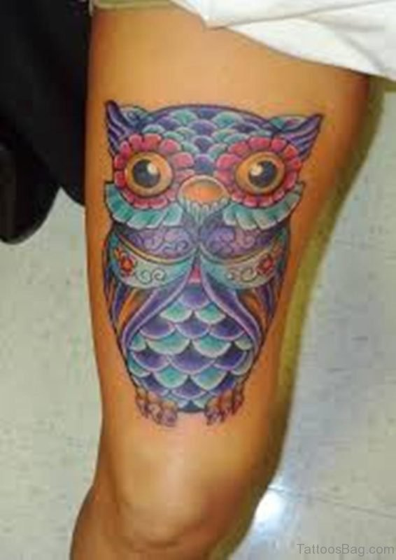 Traditional Owl Tattoo Design