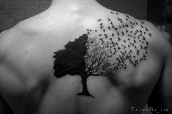 Tree And Bird Tattoo