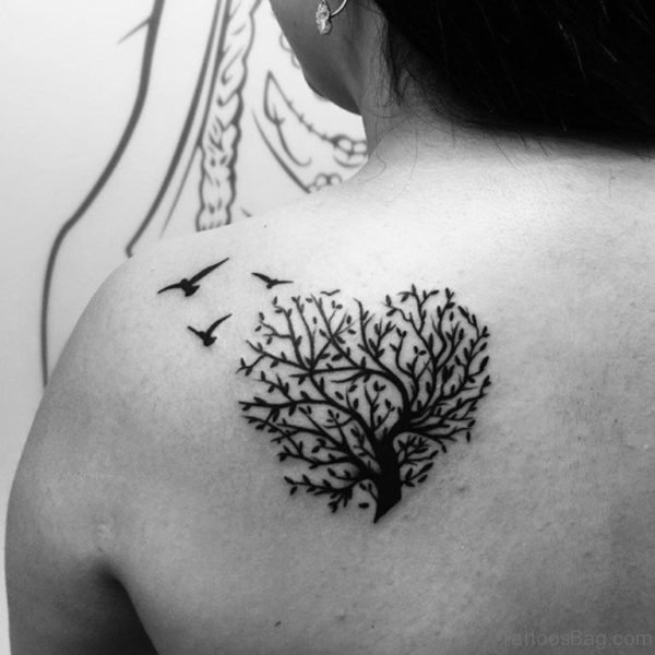 Tree And Bird Tattoo