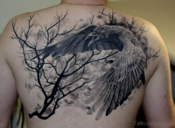 Tree And Crow Tattoo