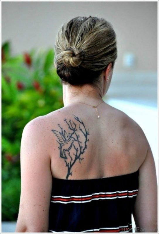 Tree And Hummingbird Tattoo