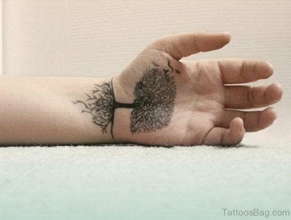 Tree Falls Tattoo