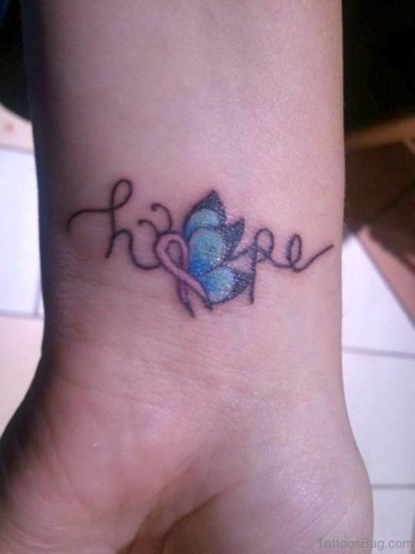 Trendy Butterfly Tattoo On Wrist