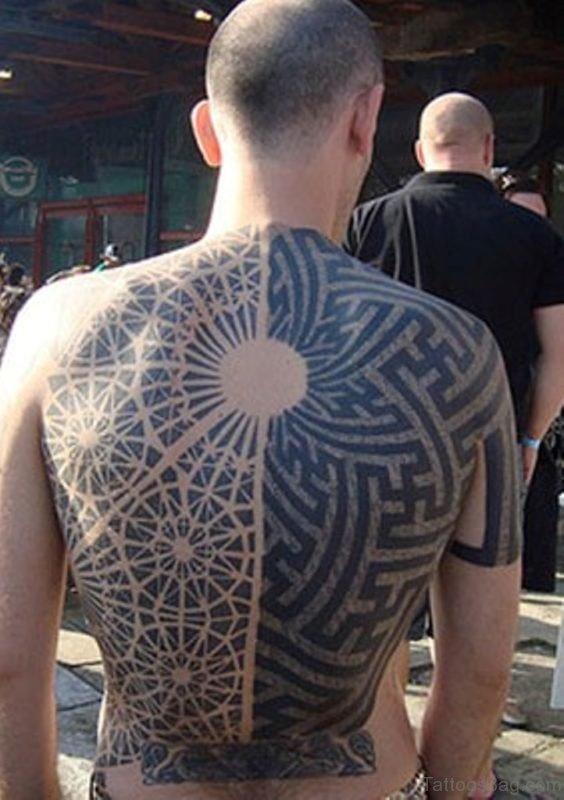 Tribal And Geometric Tattoo