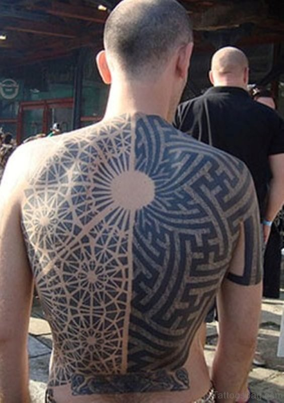 Tribal And Geometric Tattoo