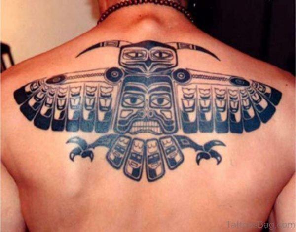 Tribal Aztec Tattoo On Back