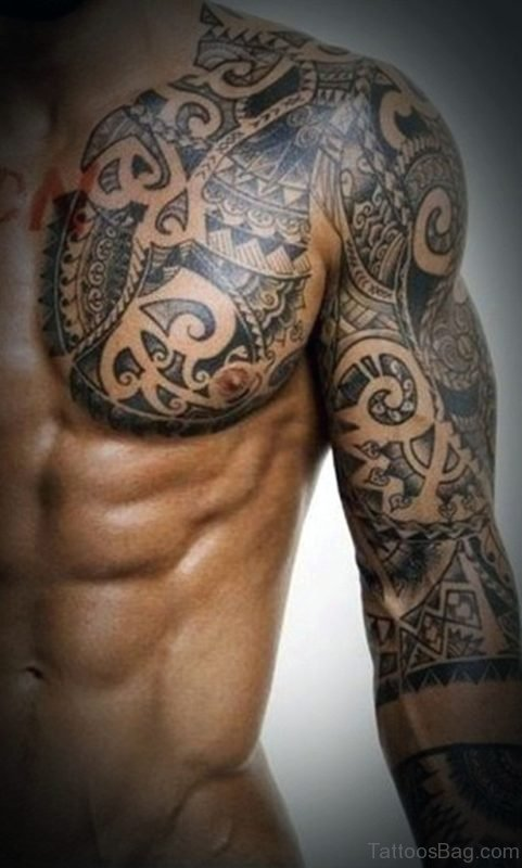 Tribal Chest Tattoo For Men