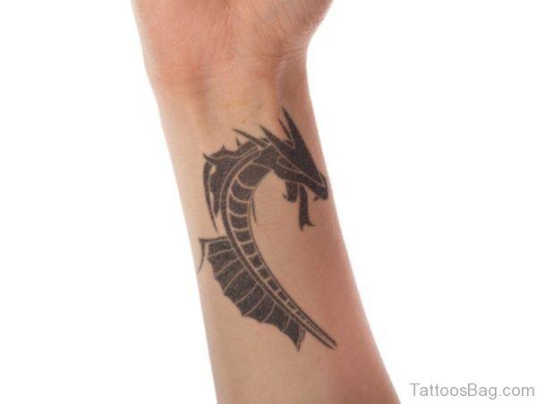 Tribal Dragon Wrist Tattoo