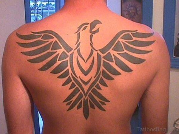 Egyptian Bird Tattoo On Back