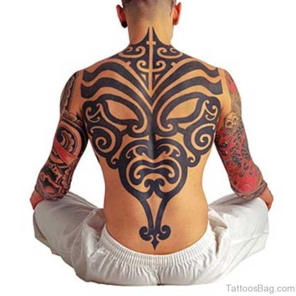Tribal Evil Mask Tattoo