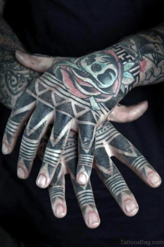 Tribal Finger Tattoo