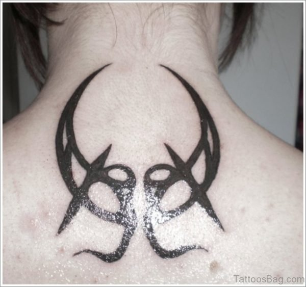 Tribal Moon Tattoo On Back