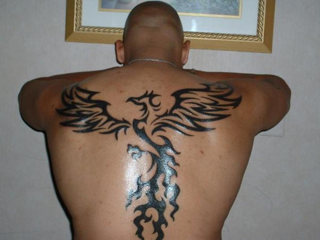 52 phoenix tattoos for back. Black Bedroom Furniture Sets. Home Design Ideas