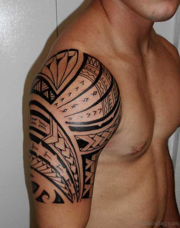 Tribal Shoulder Tattoo For Guys