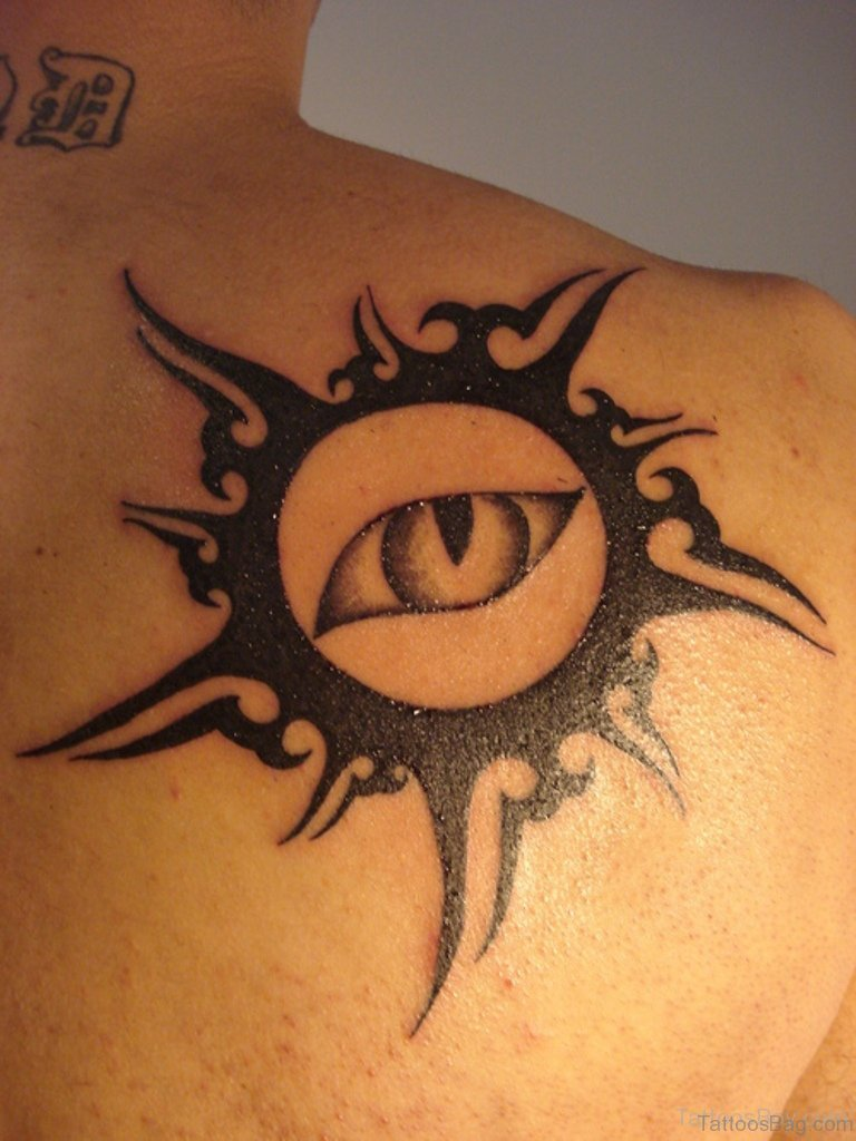 54 latest sun tattoos for back for Sun tattoos pictures